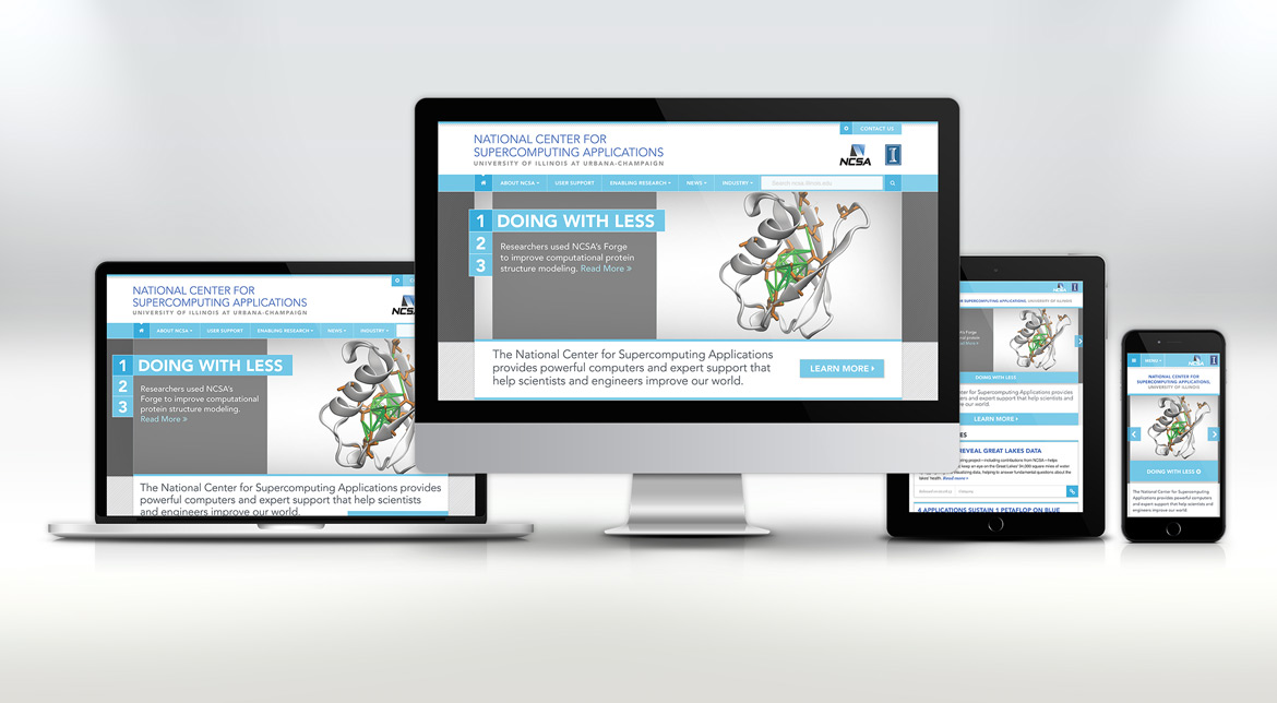 NCSA website responsive layout