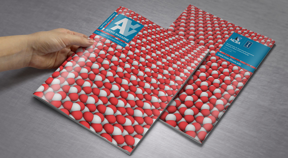 Access magazine cover front and back