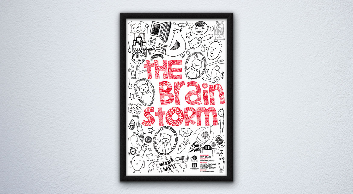 "Pens to Lens Movie Poster for ""The Brainstorm"""